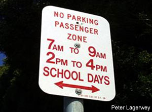 No Parking Passenger Zone 7AM to 9AM 2PM to 4PM