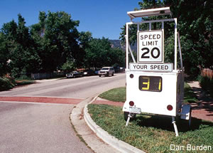 "Sign reads ""Respect our Neighborhood Drive Responsibly Drive 25 mph"""