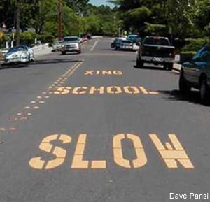 Yellow Curb Meaning >> Srts Guide Curb Paint Signs And School Pavement Legends