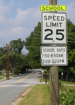 School speed zone study